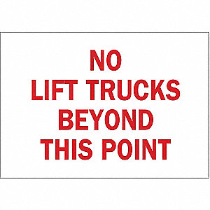 "Lift Truck Traffic, No Header, Polyester, 7"" x 10"", Adhesive Surface, Not Retroreflective"