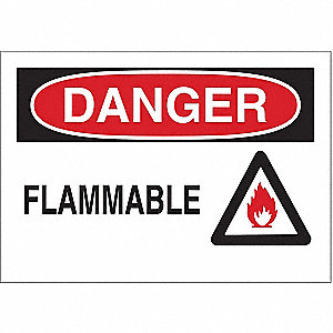 Danger Sign,10 x 14In,R and BK/WHT,FLMB