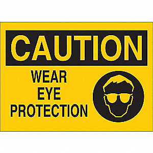 Caution Sign,10 x 14In,BK/YEL,ENG,SURF