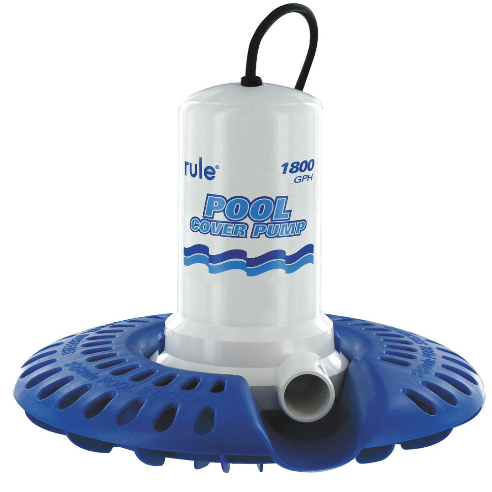 RULE 1/4 HP Computerized 110V Swimming Pool Cover Pump ...