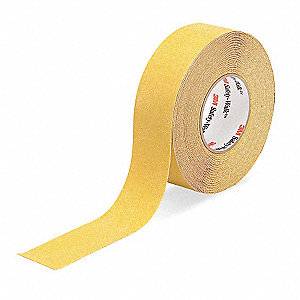 "60 ft. x 2"" Mineral Coated Antislip Tape, Safety Yellow"