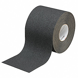 "Solid Black Anti-Slip Tape, 4"" x 60.0 ft. Grit Non-Mineral, Rubber Adhesive, 1 EA"