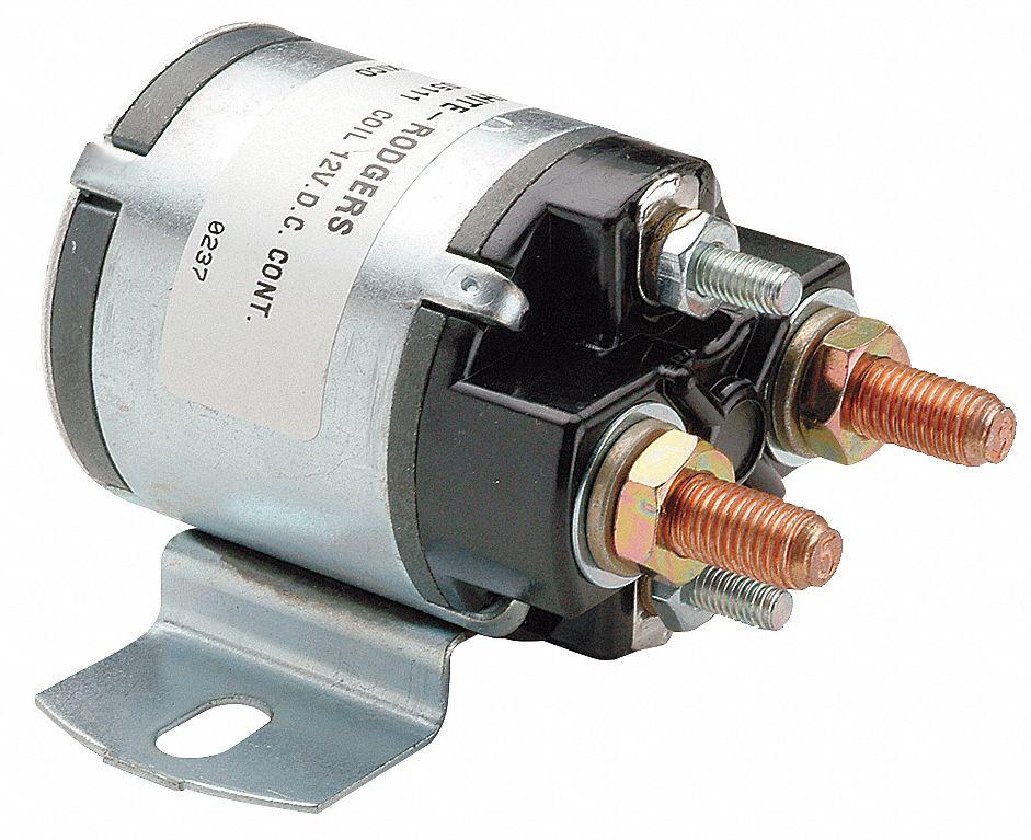 WHITE-RODGERS DC Power Solenoid, 12 V DC Coil Voltage DC, 100 Amps, SPNO,  Continuous, 5/16 in-24 - 6C020|124-105111 - Grainger | White Rodgers Continuous Duty Solenoid Wiring Diagram |  | Grainger