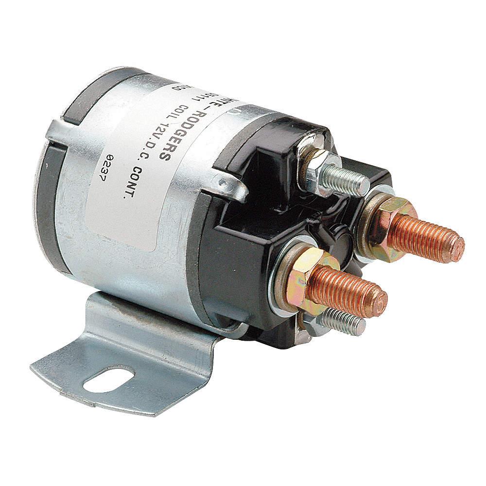 dc power solenoid, 12 coil voltage dc, 100 amps, duty cycle continuous