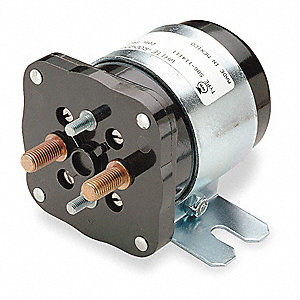 DC Power Solenoid, 24 Coil Voltage DC, 200/100 Amps, Duty Cycle: Continuous