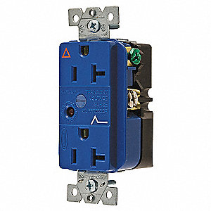 Receptacle,Deco,20A,5-20R,125V,Blue