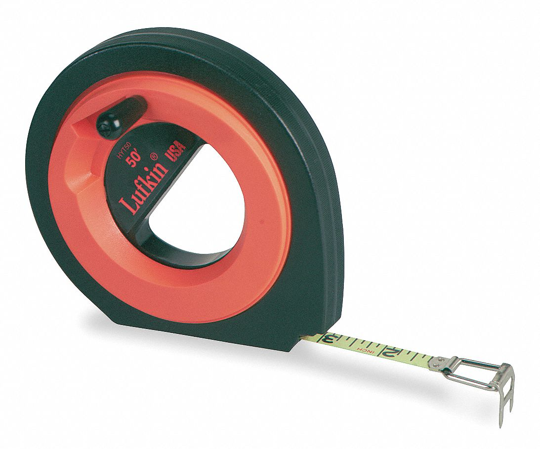 LUFKIN Long Tape Measure38 In x 100 ftOrange 6C191HYT100