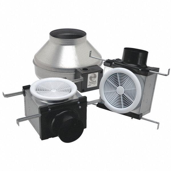 Fantech galvanized steel exhaust fan kit fits duct dia 4 for 4 bathroom fan duct