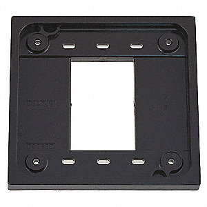 Adapter Plate, Brown, For Use With 1- and 2-gang 4-PLEX(R) Device Boxes