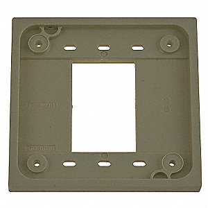 Adapter Plate, Ivory, For Use With 1- and 2-gang 4-PLEX(R) Device Boxes