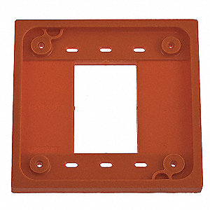 Adapter Plate, Orange, For Use With 1- and 2-gang 4-PLEX(R) Device Boxes