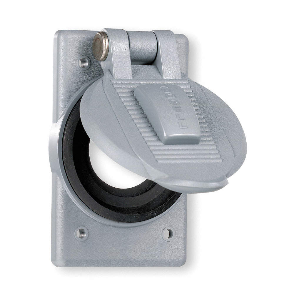 HUBBELL WIRING DEVICE-KELLEMS Weatherproof Cover, 4-9/16\