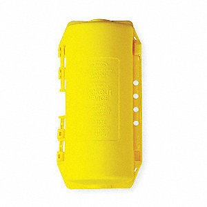 "Plug Lockout, Yellow, 12-1/2""H x 6-5/16""W"