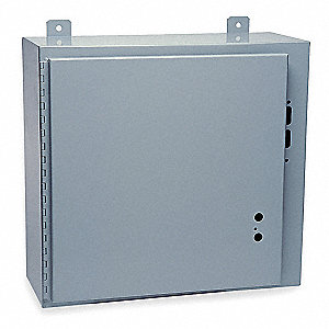 "30""H x 72""W x 6""D Metallic Disconnect Enclosure, Gray, Knockouts: No, None Closure Method"