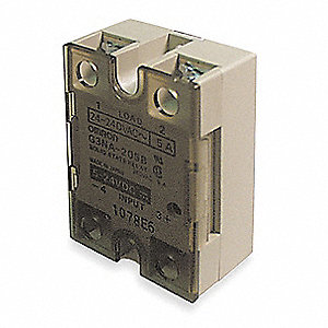 1-Pole Surface Mount Solid State Relay; Max. Output Amps w/Heat Sink: 10