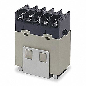 12VDC, 10-Pin Bracket Enclosed Power Relay; Electrical Connection: Screw