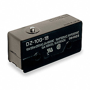 10A @ 240V Pin, Plunger Industrial Snap Action Switch; Series DZ