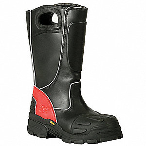 Insulated Fire Boots,10-1/2XW,Composite