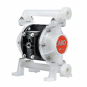 Polypropylene Santoprene® Single Double Diaphragm Pump, 8.7 gpm, 100 psi