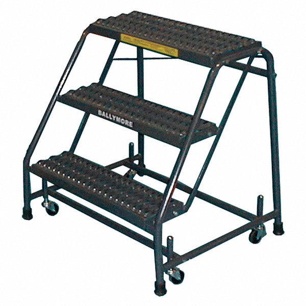 Ballymore 3 Step Rolling Ladder Expanded Metal Step Tread