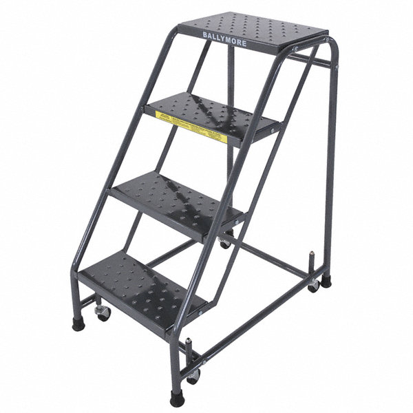Ballymore 4 Step Rolling Ladder Perforated Step Tread 38