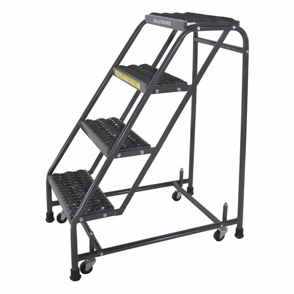 Ballymore 4 Step Rolling Ladder Serrated Step Tread 38