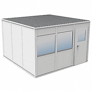 Modular InPlant Office,2Wall,12x12,Vinyl
