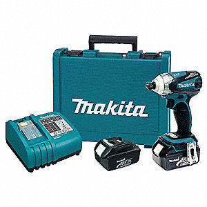 "1/4"" Hex Cordless Impact Driver Kit, 18.0 Voltage, 1460 in.-lb. Max. Torque, Battery Included"