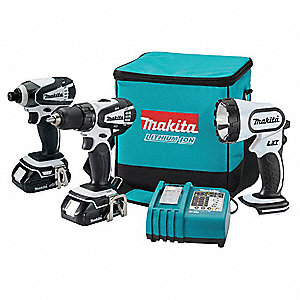 Cordless Combination Kit, Voltage 18.0 Li-Ion, Number of Tools 3