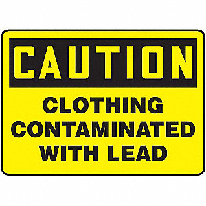 "Chemical, Gas or Hazardous Materials, Caution, Aluminum, 10"" x 14"", With Mounting Holes"