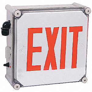 Exit Sign Light,2.5W,Red