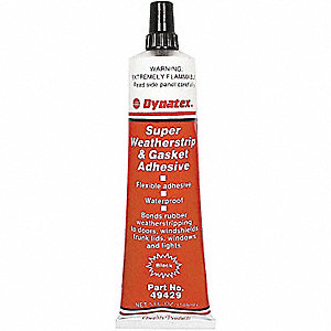 Black 5 oz. Adhesive, 6 PK
