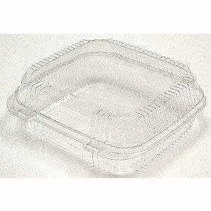 "Carry-Out Container,8-1/4"" W,Clear,PK200"