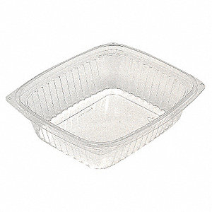 "Deli Container,7 1/2"" W,Clear,PK200"