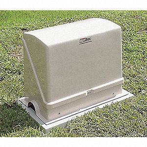 "27"" x 13"" x 23"" Fiberglass Valve Enclosure, Heated"