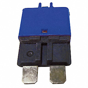 CB227 Series Automotive Circuit Breaker, Plug In Mounting, 15 Amps, Blade Terminal Connection