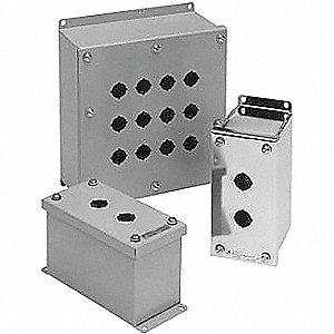 Pushbutton Enclosure, 12 NEMA Rating, Number of Columns: 1
