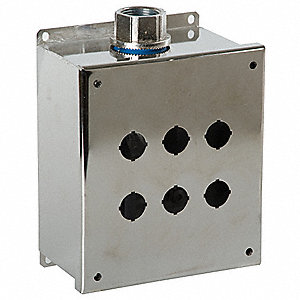 Pushbutton Enclosure, 4X NEMA Rating, Number of Columns: 3