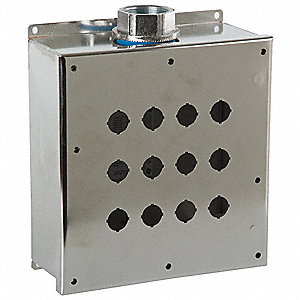 Pushbutton Enclosure, 4X NEMA Rating, Number of Columns: 4