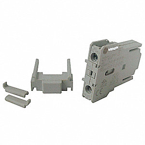 Auxiliary Contact Block, 10 Amps, Screw Clamp Terminals Type, Side Mounting