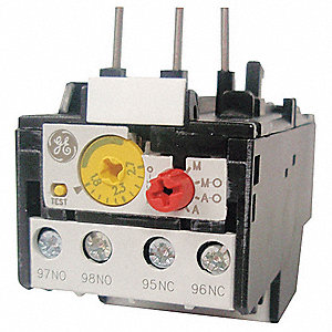 IEC Style Overload Relay, 0.65 to 1.10A, 3 Poles, Auto, Manual Reset, Trip Class: 10