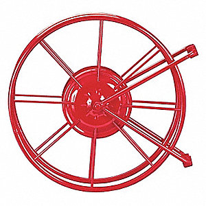 Steel V-Swing Fire Hose Reel, 75 to 150 ft. Hose Capacity, For Hose Dia. 1-1/2 to 1-3/4""