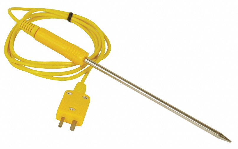 Mini K Thermocouple Immersion Temperature Probe, -40° to 950° Temp. Range (F)