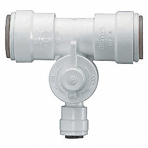 Polysulfone Tee Valve for Water Line Connection