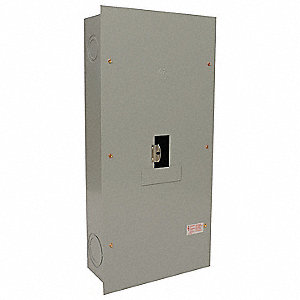 "Circuit Breaker Enclosure, Steel, 1 NEMA Rating, 42.75"" Length, 17.13"" Width, 8.38"" Depth"