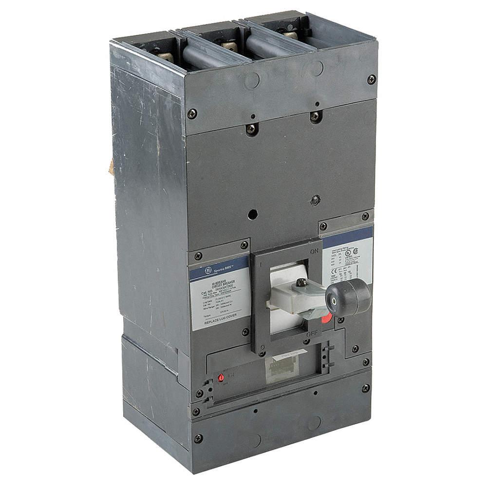 GENERAL ELECTRIC Circuit Breaker, 800 Amps, Number of Poles: 3 ...