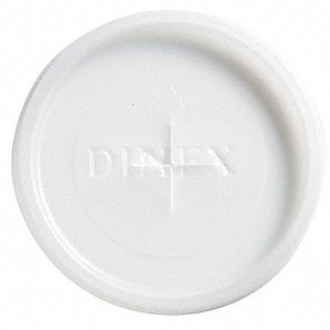 5 Oz Plastic Flat Disposable Lid, Translucent&#x3b; PK1000