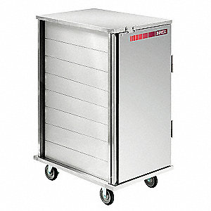 Tray Delivery Cart,Enclosed,24 Trays