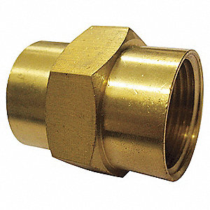 "Brass Coupling, FNPT, 1/8"" Pipe Size"