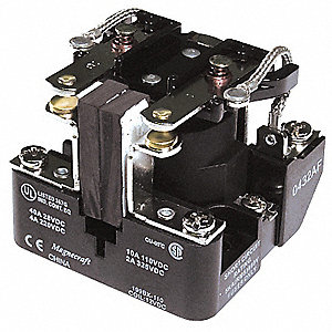24VDC, 8-Pin Surface Open Power Relay; Electrical Connection: Screw